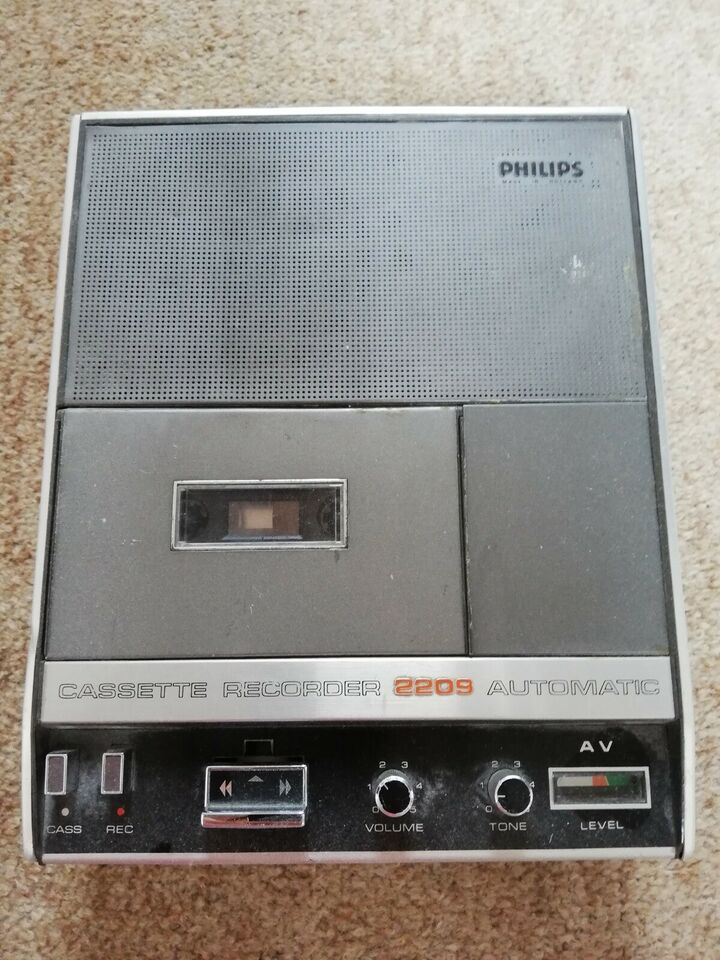 Båndoptager, Philips, Cassette Recorder 2209 Automatic