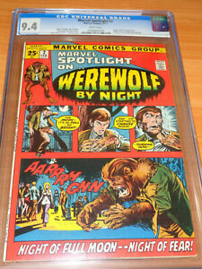 MARVEL SPOTLIGHT #2 - CGC 9.4 NM (1st App. of Werewolf by Night ; White Pages)