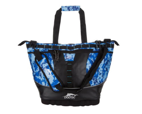 replacable liner-MEDIUM BLUE CAMO FISHING DORSAL Leakproof Soft Cooler MARLIN