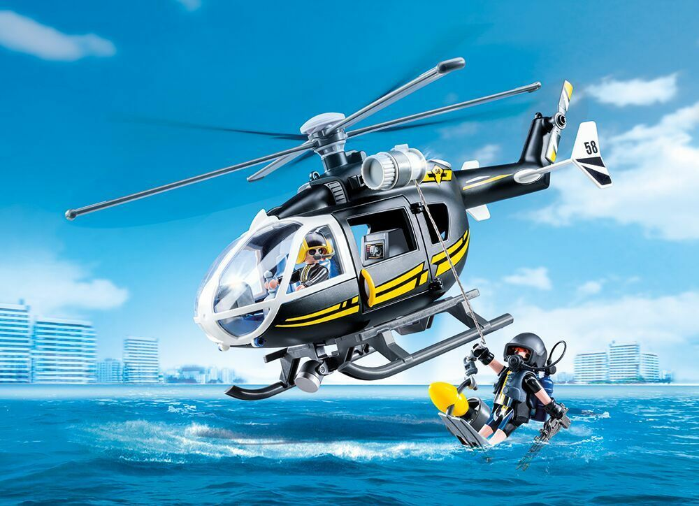 PLAYMOBIL® 9363 SWAT Team helicopter - NEW 2018 - S&H FREE WORLDWIDE