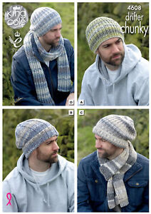 1374aa81df2 Image is loading Mens-Hats-amp-Scarves-Knitting-Pattern-Winter-Accessories-
