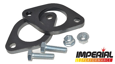 2x 2in / 51mm UNIVERSAL EXHAUST FLANGE 2 BOLT mild steel decat custom system