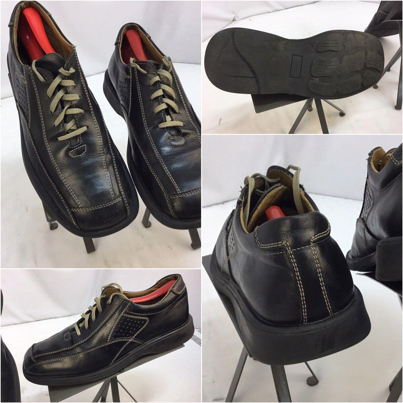 Bottesini shoes Sz 10 Men Black Leather Lace Split-Toe Rubber Sole  YGI G7