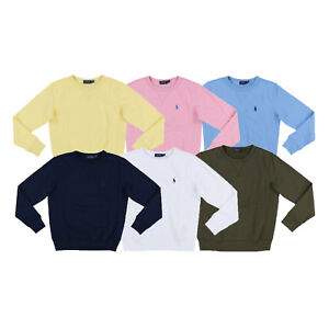 Polo-Ralph-Lauren-Womens-Fleece-Sweatshirt-Crew-Neck-Pullover-Xs-S-M-L-Xl-New