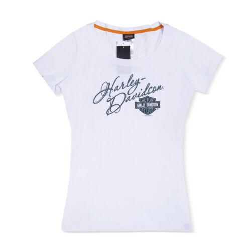 Harley-Davidson T-Shirt Biker Rider Short Sleeves Woman Tel Aviv Israel White
