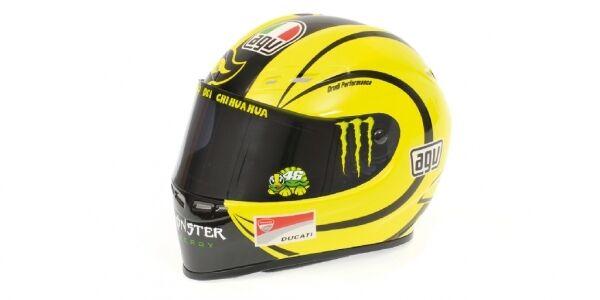 Helmet Agv Valentino Rossi Valencia Motogp 2010 1 2 Replica modellllerlerl MINISTAMPS