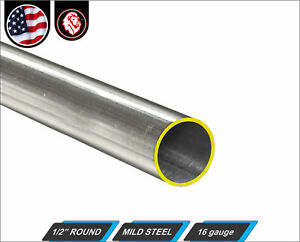 1-2-034-Round-Tube-Cold-Formed-Mild-Steel-16-gauge-ERW-12-034-Long