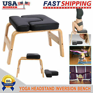 new yoga headstand chair wood inversion bench home gym