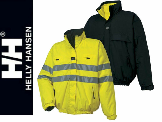Helly Hansen Mens Hi Viz Reversible Padded Jacket  M-2XL Wind / Waterproof Coat