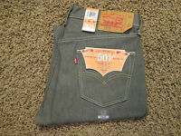 35 X 30 Levi 501xx Shrink To Fit Mens Button-fly Jeans -gray-