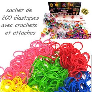 ELASTIQUE-LOOM-BANDS-SACHET-DE-200-CROCHETS-ET-ATTACHES-ELASTIQUE-CHEVEUX