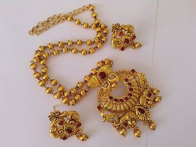 Bollywood Fashion Jewellery Gold Tone Beautiful Design Necklace