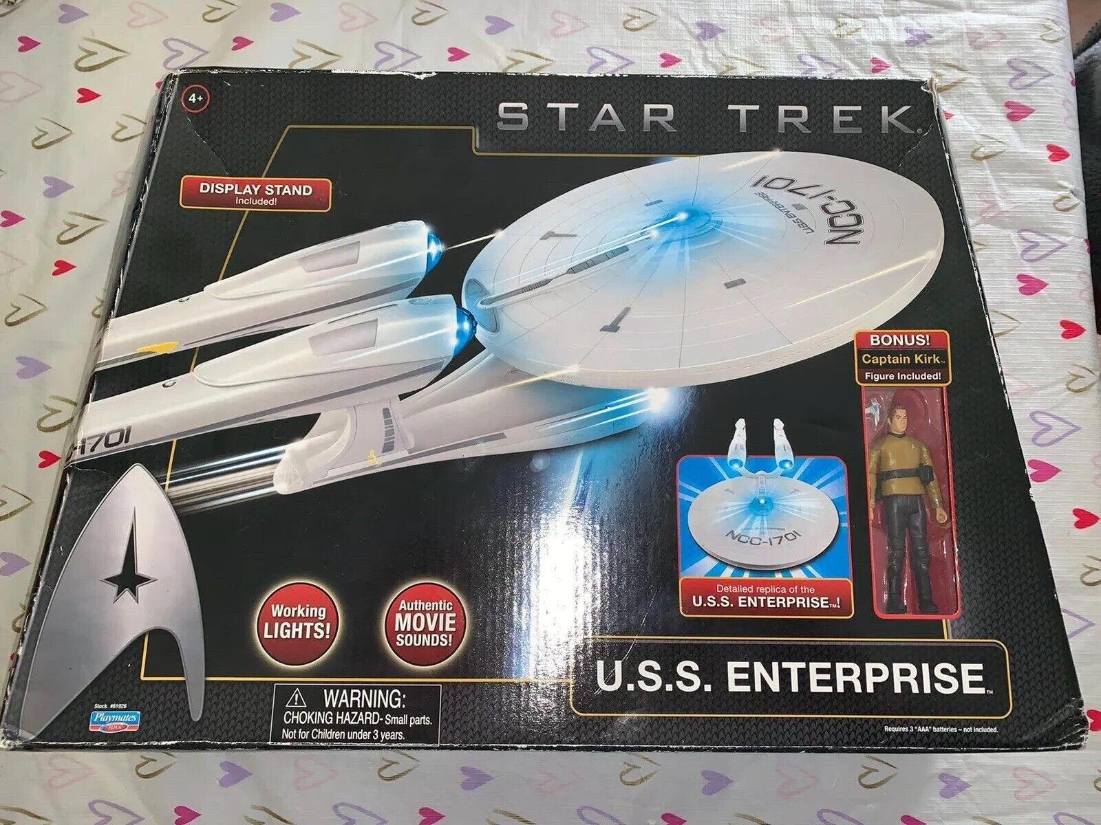 Star Trek USS Enterprise NCC 1701 Electronic Starship Cpt.Kirk Figure Playmates