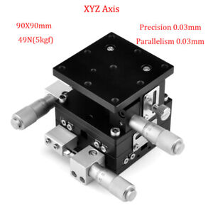 XYZ-3-Axis-Linear-Stage-Manual-Trimming-Platform-Bearing-Tuning-Sliding-Table