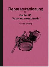 Sachs Saxonette 50 Automatic Motor Reparaturanleitung Montageanleitung Handbuch