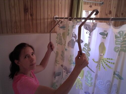 CodyCo Aluminum Shower Legs Stops Shower Curtain Cling /& Blow In