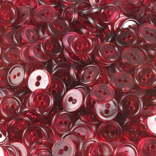 10 pièce bouton 11 mm 1,1 cm transparent boutons en plastique 0,10 €//unité