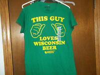 This Guy Loves Wisconsin Beers Tee T-shirt NWT Small