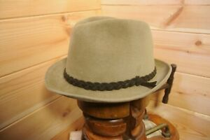 98a562be2e516 Vtg Mayser Traditional German Velour Fur Felt Fedora Trilby Hat Eu ...