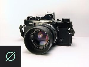 SALE-OLYMPUS-OM-2N-w-ZUIKO-50mm-f1-4-Lens-Hood-Good-User-Condition