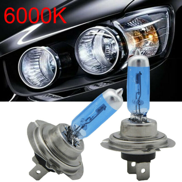 2Pcs H7 100W Car Xenon Gas Halogen Headlight Light Lamp Bulb White 12V