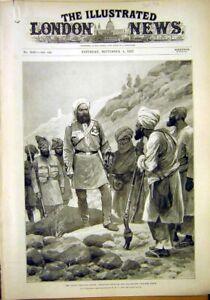 Original-Old-Antique-Print-Indian-Frontier-Khyber-Datta-Khel-Tochi-River-1897