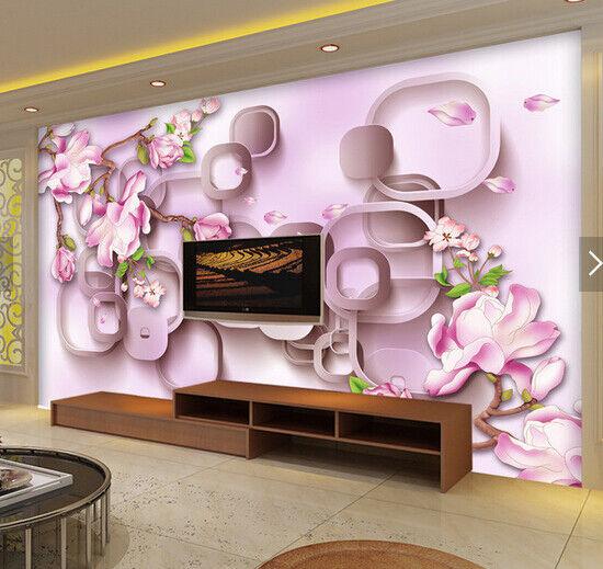 3D pink bluemenkunst 5889 Tapete Tapeten Mauer Foto Familie Tapete Wandgemälde DE