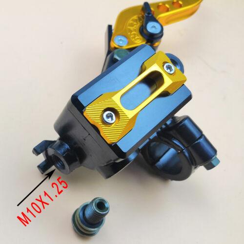 Universal 7//8/'/' CNC Motorcycle Brake Clutch Master Cylinder Lever Kit Reservoir