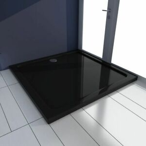 vidaXL-Square-ABS-Shower-Base-Tray-Black-90x90cm-Bathroom-Furniture-Floor