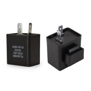 12V 2-Pin LED Electronic Blinker Relais Relay Flasher Universal Blinkgeber DE