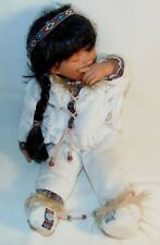 Cathay Collection 1 of 5000 Porcelain Infant Native American Sleeping Doll