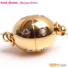 Magnet Rhinestone Yellow Gold Filled Clasps Jewelry Making Finding 9x16mm