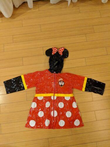 Minnie Mouse Rain Coat 6/6X NWOT
