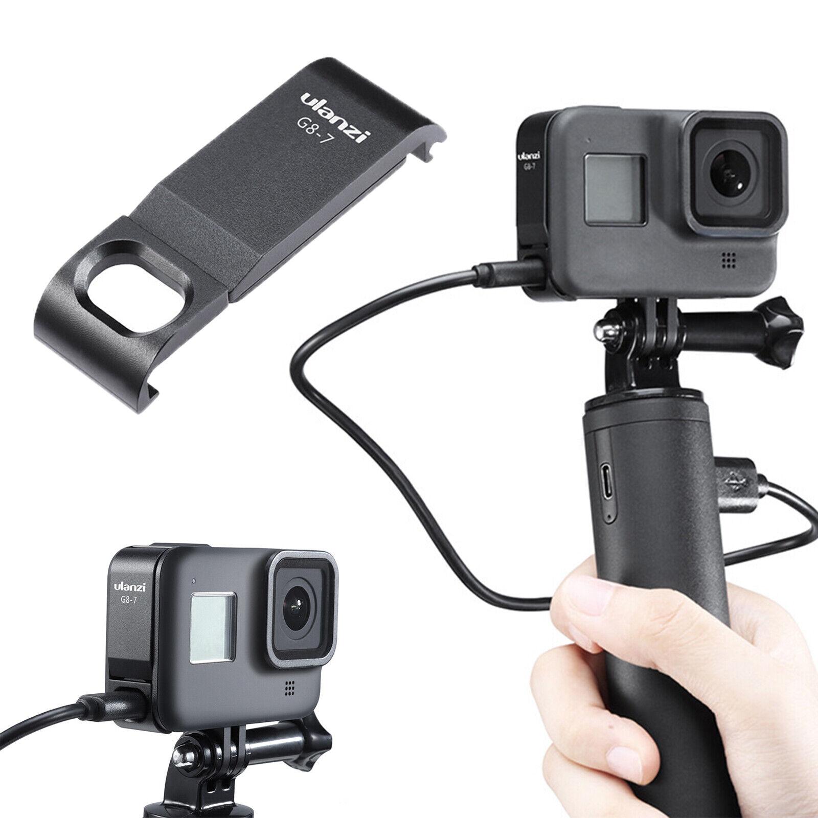 For GoPro Hero Black 8 Camera Battery Door Cover ULANZI G8-7 Type-C Charging Kit