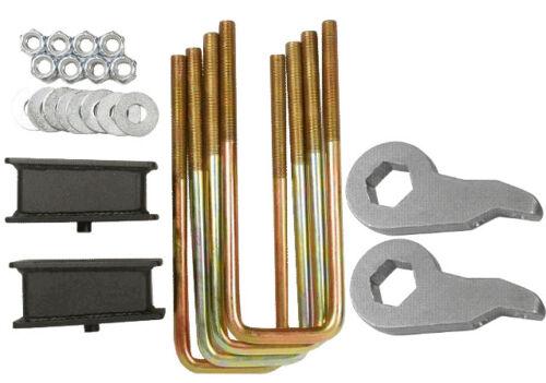 Lift Kit 2000-10 Chev 2500 3500 HD Forged Torsion Keys /& Fabricated Steel Blocks