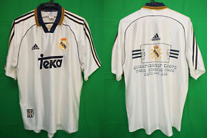 bb21bbff6aa 1998-1999-2000 Real Madrid Los Blancos Jersey Shirt Camiseta Home ...