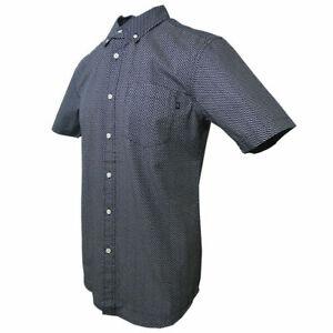 Obey-Men-039-s-Gray-amp-Indigo-S-S-Woven-Shirt-Retail-80