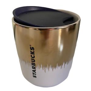 starbucks 2020 Gold In White 8oz Hot Tumbler New