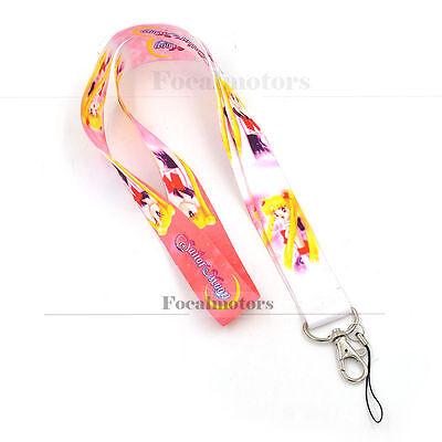 Sailor Moon Tsukino Usagi Cosplay Neck Strap Lanyard For Phone Key ID Card Nylon
