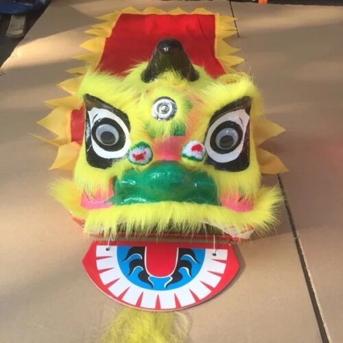 Lion Mascot Dance Costume Wool Southern Lion Chinese Folk Art For Kid Toy Unisex