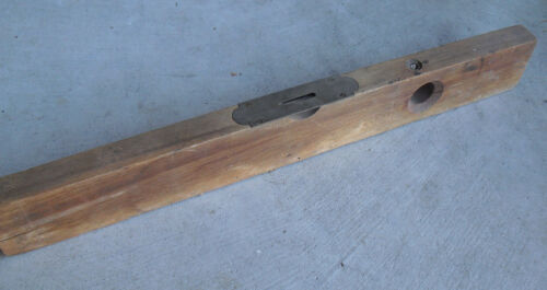 "Antique Henry Disston & Sons Keystone Tool Works Phila Wood Level 24"" Long"