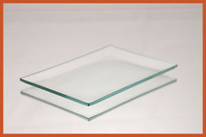 "4 1/2"" x 6 1/2"" Rectangle Shallow Bend Clear Glass Plate 1/8"