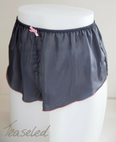 Taille Plus courbe French Knickers Satin Soyeux Culotte Lingerie plusieurs couleurs