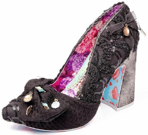 Irregular Choice Ti Amo Black Womens Court Shoes Heels