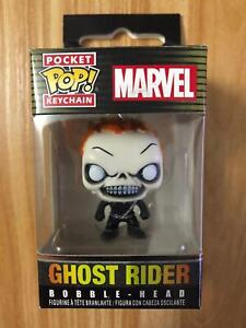 Marvel-Character-Ghost-Rider-Figure-Funko-POP-Pocket-Keychain-New-Arrival