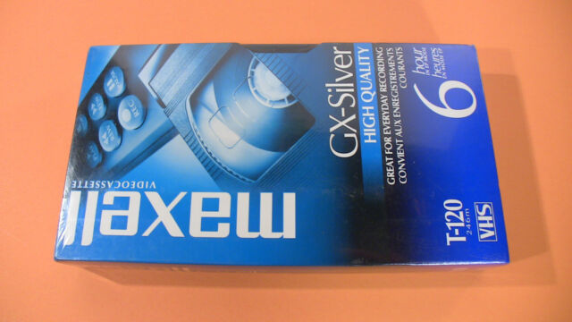 Maxell GX-Silver T-120 VHS - New Sealed
