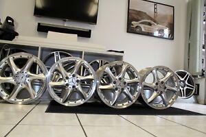 Original-Mercedes-Alufelgen-Felgen-SATZ-17-Zoll-Mehrteilig-W203-R170-R171-W208