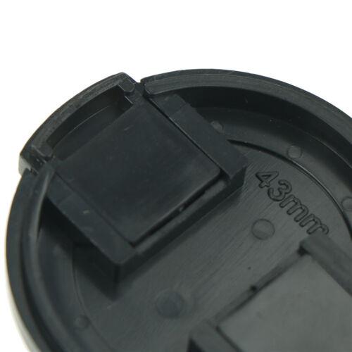 2x 43mm Plastic Snap On Front Lens Cap Cover For SLR DSLR Camera DV Sony Pip DE