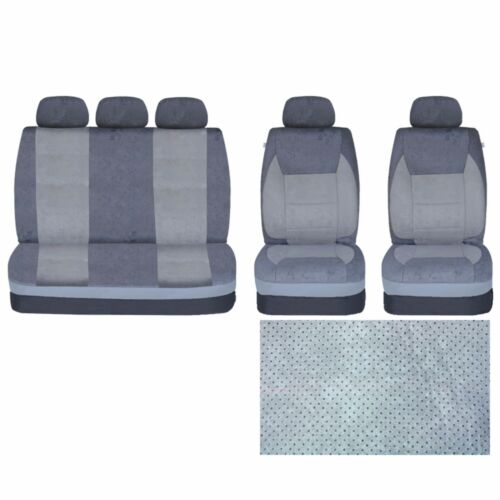 9 PCE Mayfair Grey Full Set of Heavy Duty Car//Taxi Auto Seat Covers