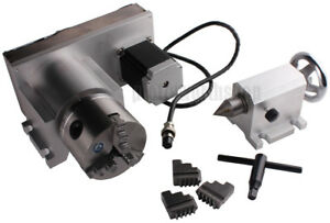 NO VAT CNC F Style A-Axis 4th-Axis Router Rotational Axis 3-Jaw 80mm+Tailstock